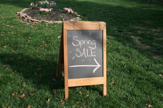 red oak sandwich board sidewalk sign chalkboard easel shop. Black Bedroom Furniture Sets. Home Design Ideas