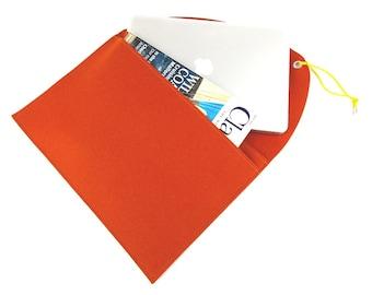 15 ins bag for Mac Pro retina display, MacBook felt bag, Mac Pro 15 case, Scandinavian design, MacBook felt soft cover, orange laptop case