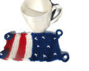 American Flag Cozy, Patriotic cozy cup, 4th of july, 4th July gift, Patriotic Gift