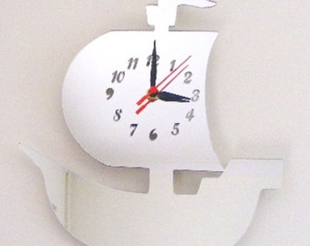 Pirate Ship Clock Mirror - 2 Sizes Available