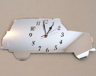 Taxi Cab Clock Mirror - 2 Sizes Available
