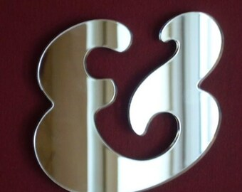 Funky Style Letter Mirrors Punctuation Marks - 10 Sizes Available