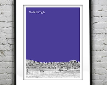 Newburgh New York Poster Art Skyline Print NY Hudson Valley