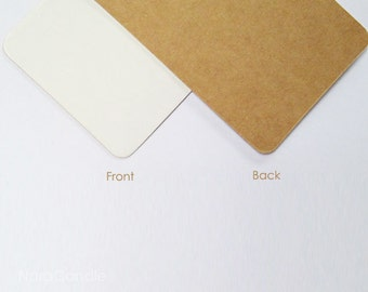 Rounded Corners Kraft Business Card, Two Tone Card