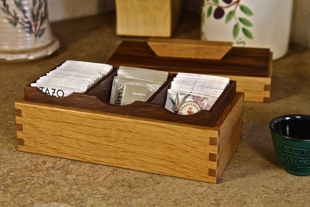 ?zoom & Tea Bag Organizer / Tea Bag Storage / Wood Tea Box Aboutintivar.Com