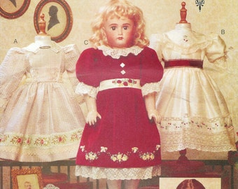 Vogue Crafts 7163/695 Teresa Layman Heirloom Doll Clothes for 18 Inch Dolls Sewing Pattern UNCUT