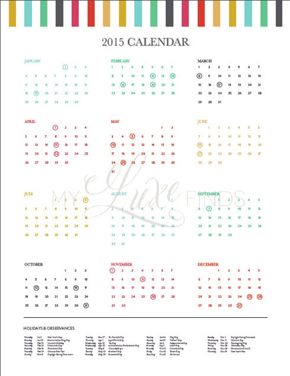 """Year Calendar Pretty : Search results for """"pretty printable yearly calendar"""