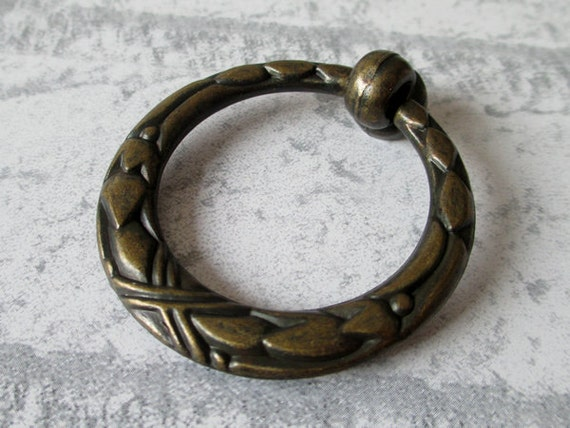 dresser pull drawer pulls handles knobs drop pull ring antique bronze