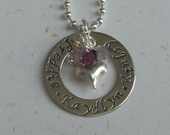 Custom Stamped Mother's Necklace