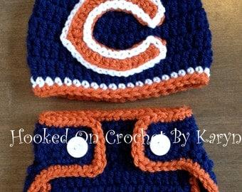 Chicago Bears Diaper Cover Set