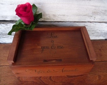 Personalized Wood Box, Valentines Gift, Birthday Gift ,Custom Wood Box
