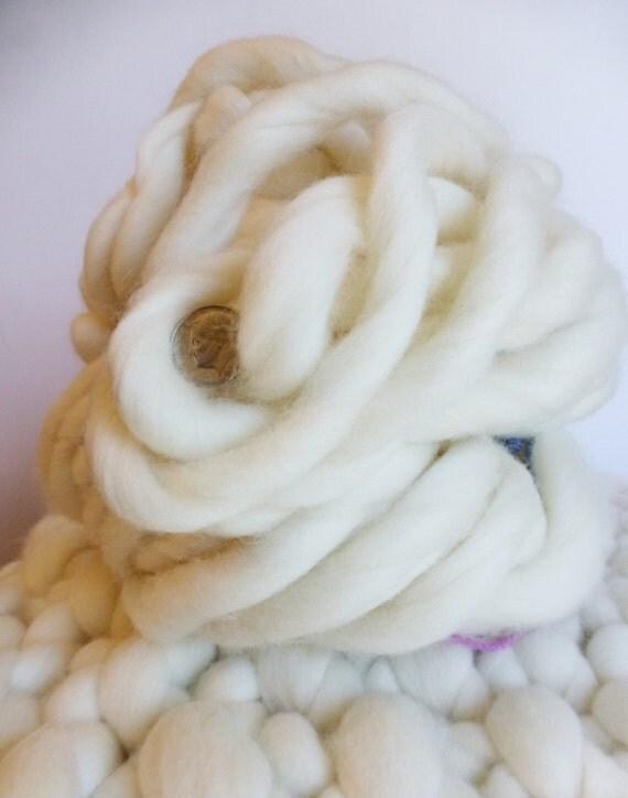 "Super Chunky Extreme Yarn, Super- THICK Yarn, ""Smoosh Yarn"" ™ For Chunky Blankets, Extreme Hand Spun yarn"