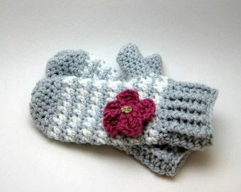 KIDS Crochet Pattern, mittens patterns, houndstooth pattern, kids crochet mittens, kids crochet gloves, mittens, gloves, houndstooth gloves