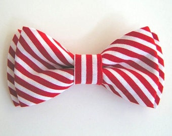 Bow Tie, Red and White Stripes, red and white stripes bow tie for kids, boys bow tie