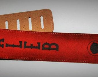 Custom Suede Guitar straps, custom guitar straps, guitar straps, personalized guitar straps, Rust color