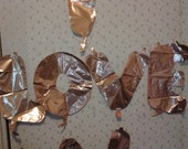 14 inch Love  Gold Mylar Air Fill Balloons On a Stick Create Mini Banners