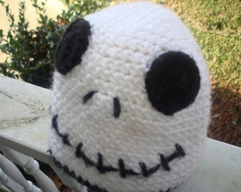 Nightmare Before Christmas Jack Skellington Inspired Crocheted baby and Toddler Beanie