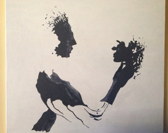 Man and Woman Shadows original painting