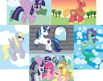 Set of Six MLP art prints