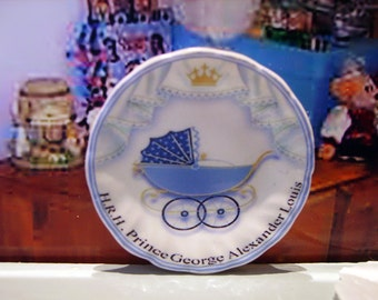 Prince George of Cambridge Miniature Plate for Dollhouse 1:12 scale