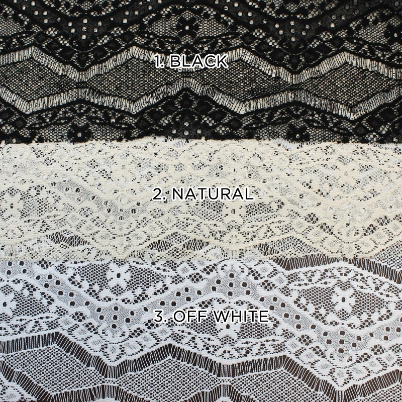 Eyelash floral lace fabric by the yard or wholesale sonia for Cheap fabric by the yard