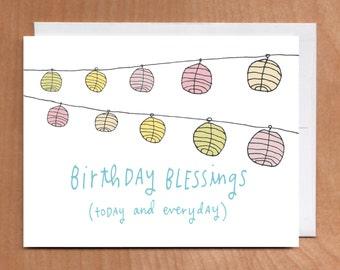 BIRTHDAY BLESSINGS Card (2-11C) white
