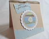 All Occasion Card - Handmade Card - Blank Card - Starfish Card - Sand Dollar Card - Nautical Theme - PrettyByrdDesigns