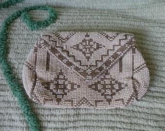 Vintage, Made in Czeckoslovakia, Seed Bead, Clutch Purse