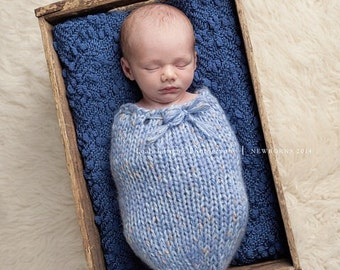Snuggly Sack , Newborn sack , Photo Prop Cuddle Cocoon, Cocoon, Knitted Sack