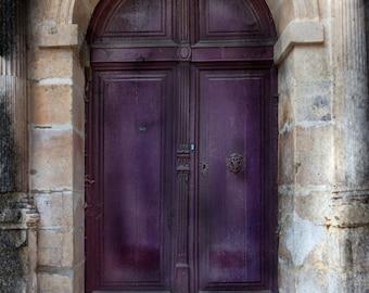 Paris Photography, Paris Art, Paris Prints, French Art, French Photo, Aubergine Doorway, Paris Doorway, Paris Photo, Print, Photo, Fine Art