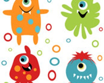Popular items for monsters fabric on etsy for Baby monster fabric