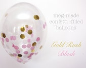 Confetti filled Balloons - (10) - Gold Rush Blush