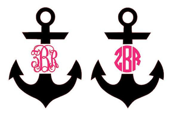 anchor monogram decal