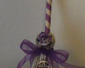 Mini Besom Broom With mullbery flower