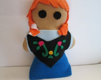Frozen inspired Princess Anna Plush