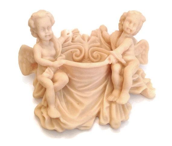 Italian cherub wall pocket vintage Valentino brand angel decoration