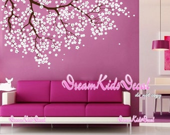 Cherry Blossoms Tree Decal-Tree wall Decal Wall Sticker Baby Nursery Decals-DK157