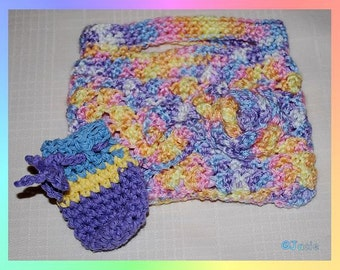 Crochet Makeup Tote
