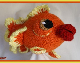 Gina the Crochet Goldfish
