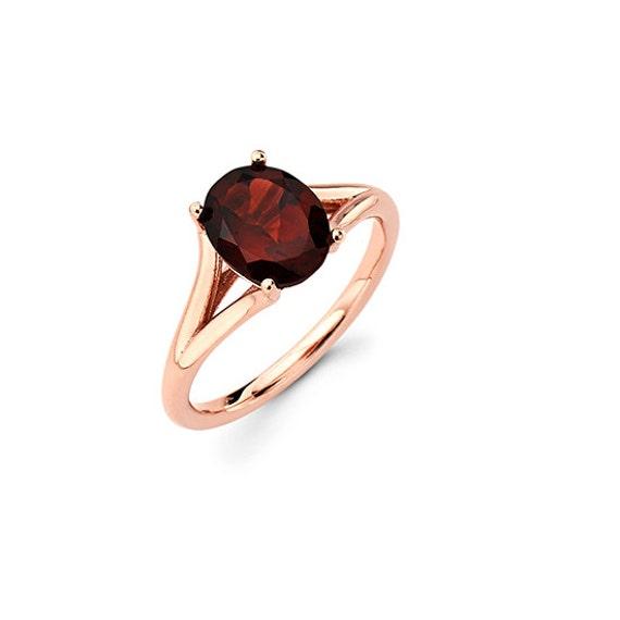 14k rose gold garnet ring rose gold ring garnet promise. Black Bedroom Furniture Sets. Home Design Ideas