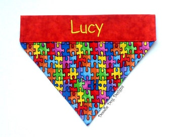 Autism Bandana, Autism Dog Bandana, Autism Awareness, Personalized Dog, Dog Bandana, Pet Bandana, Collar Bandana, Dog Scarf