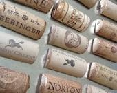 Gilded Wine Cork Magnets (Set of 6) - Super Strong!