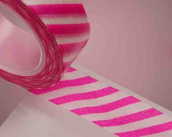 Diagonal Washi tape fuchsia