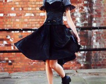 Black netted circle skirt