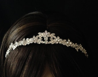 Bridal Wedding Tiara - Rhinestone Bridal Tiara - Bridal Headpiece - Bridal Headband