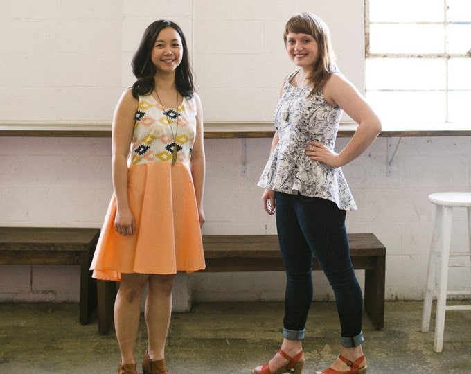 The Riding Peplum & Party Dress- April Rhodes Sewing Patterns