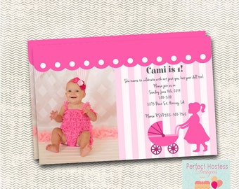 Baby Doll Brunch Birthday Party Invitation with Picture