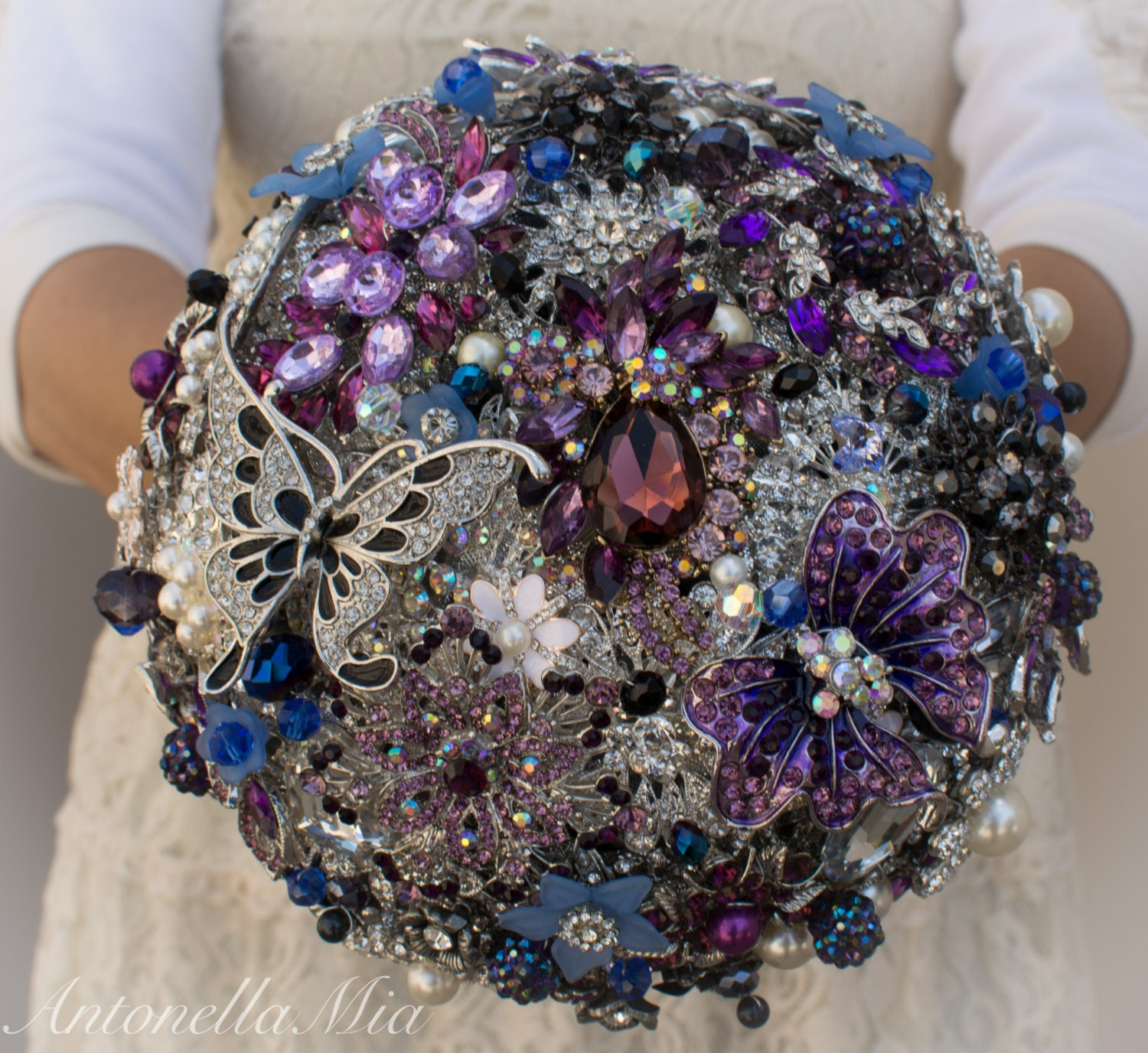 Diy Wedding Bouquets Ideas: Assembly Service For Your DIY Brooch Bouquet Kit Wedding
