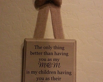 Mom/Grandma Plaque