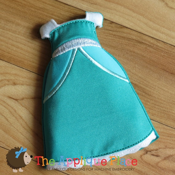 Cinderella gown for dolls cloth doll clothing in the hoop